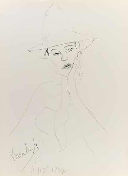 Don Bachardy VIVIEN LEIGH, 18 AUGUST 64 1964 Pencil on paper 30 x 22 inches 76.2 x 55.9 centimeters