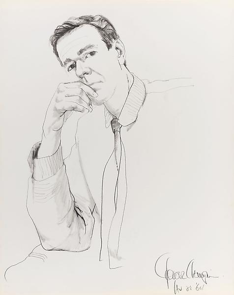 Don Bachardy 	GOWER CHAMPION, 23 AUGUST 64 1964 	Pencil and ink wash on paper 	29 x 23 inches 	73.7 x 58.4 centimeters