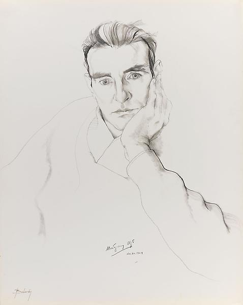 Don Bachardy MONTGOMERY CLIFT, 26 NOVEMBER 64 1964 Pencil and ink wash on paper 29 x 23 inches 73.7 x 58.4 centimeters