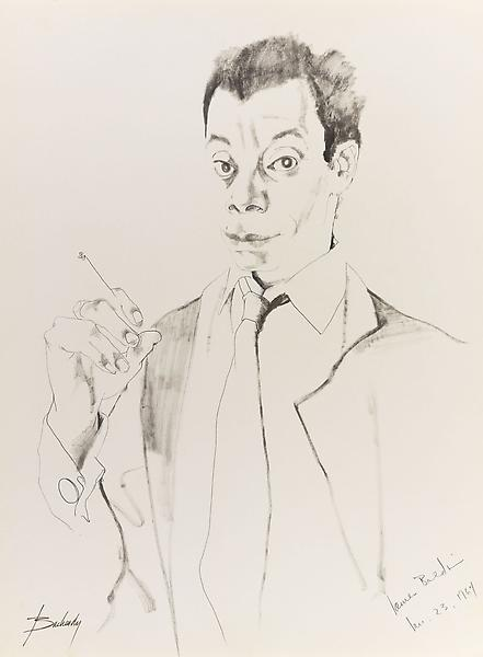 Don Bachardy 	JAMES BALDWIN, 23 JANUARY 64 1964 	Pencil and ink wash on paper 	30 x 22 inches 	76.2 x 55.9 centimeters