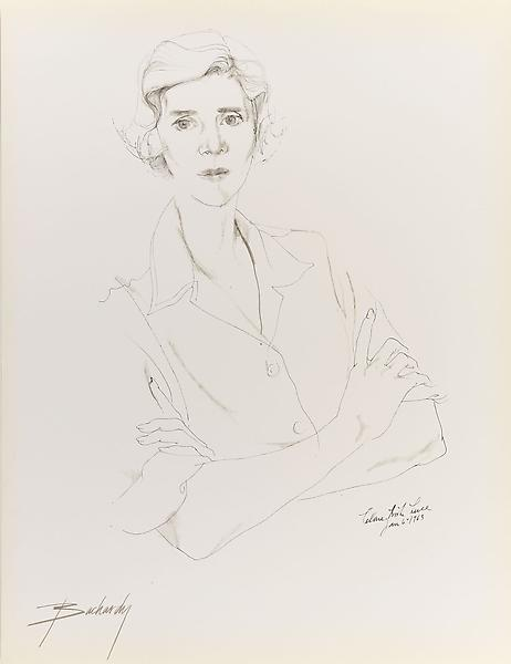 Don Bachardy CLARE BOOTH LUCE, 6 JANUARY 63 1963 Ink on paper 30 x 22 inches 76.2 x 55.9 centimeters