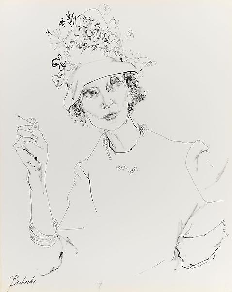 Don Bachardy ESTELLE WINWOOD, 1 JUNE 62 1962 Ink on paper 29 x 23 inches 73.7 x 58.4 centimeters