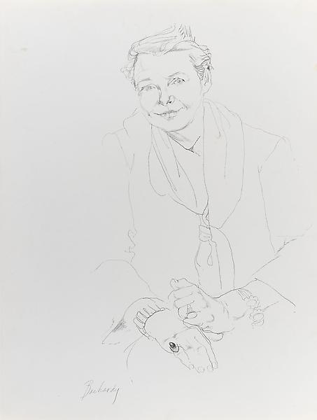 Don Bachardy 	ROSE WILLIAMS, 4 FEBRUARY 62 1962 	Pencil on paper 	29 x 23 inches 	73.7 x 58.4 centimeters