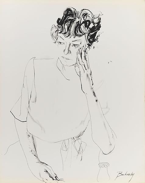 Don Bachardy DOROTHY PARKER, 10 MAY 62 1962 Ink on paper 29 x 23 inches 73.7 x 58.4 centimeters