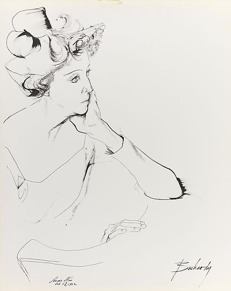 Don Bachardy ANAIS NIN, 17 OCTOBER 62 1962 Ink on paper 29 x 23 inches 73.7 x 58.4 centimeters