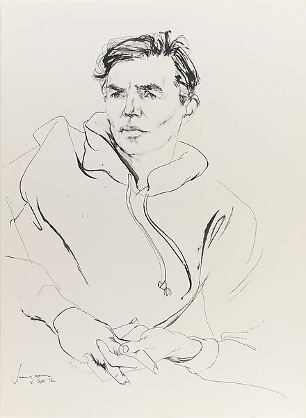 Don Bachardy 	JAMES MASON, 15 SEPTEMBER 62 1962 	Ink on paper 	30 x 22 inches 	76.2 x 55.9 centimeters