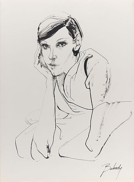 Don Bachardy PEGGY MOFFITT CLAXTON, 26 JUNE 62 1962 Ink on paper 30 x 22 inches 76.2 x 55.9 centimeters