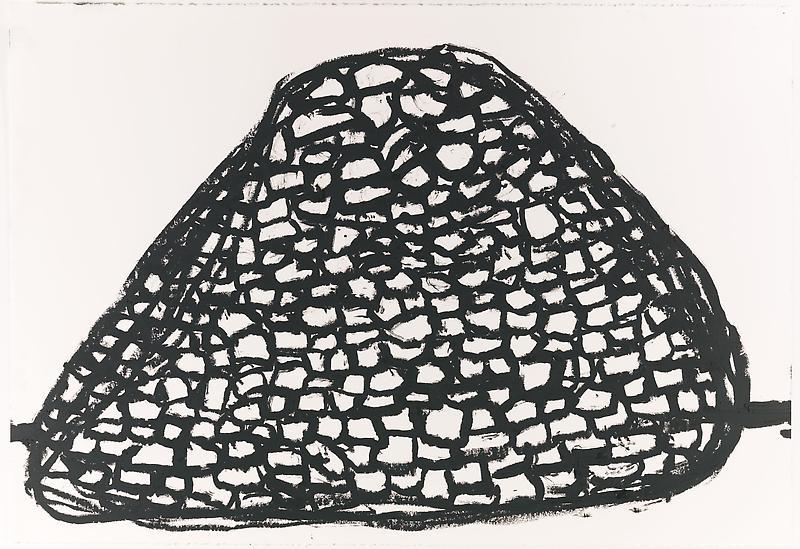 Jannis Kounellis UNTITLED 2013 Oilstick on paper 30 x 44 inches 76.2 x 111.8 centimeters