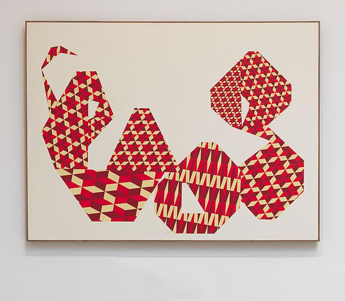 Barry McGee 	UNTITLED 2012 	Acrylic on wood 	48 x 60 inches 	121.9 x 152.4 centimeters