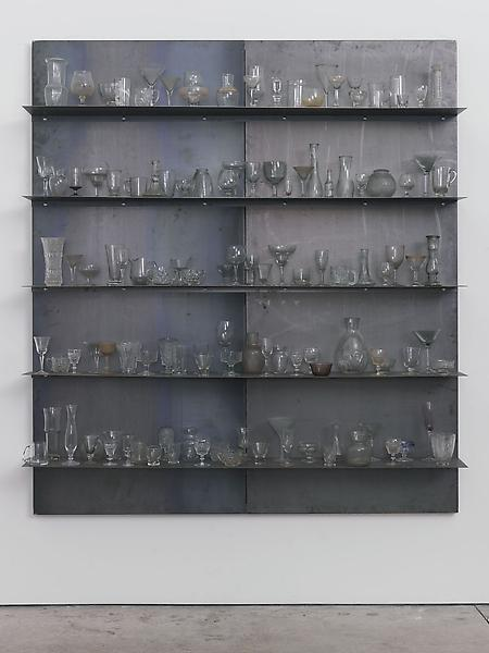 Jannis Kounellis UNTITLED 2013 Steel and glass 78 3/4 x 70 7/8 x 10 3/4 inches 200 x 180 x 27.3 centimeters CR# KO.32221