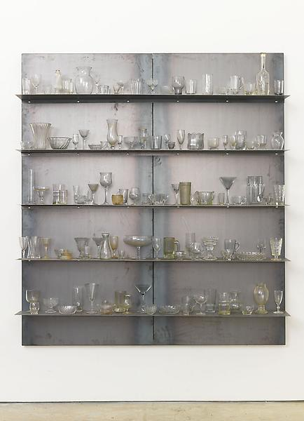 Jannis Kounellis UNTITLED 2013 Steel and glass 78 3/4 x 70 7/8 x 10 3/4 inches 200 x 180 x 27.3 centimeters CR# KO.32222