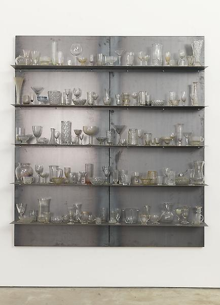 Jannis Kounellis UNTITLED 2013 Steel and glass 78 3/4 x 70 7/8 x 10 3/4 inches 200 x 180 x 27.3 centimeters CR# KO.32223