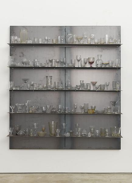 Jannis Kounellis UNTITLED 2013 Steel and glass 78 3/4 x 70 7/8 x 10 3/4 inches 200 x 180 x 27.3 centimeters