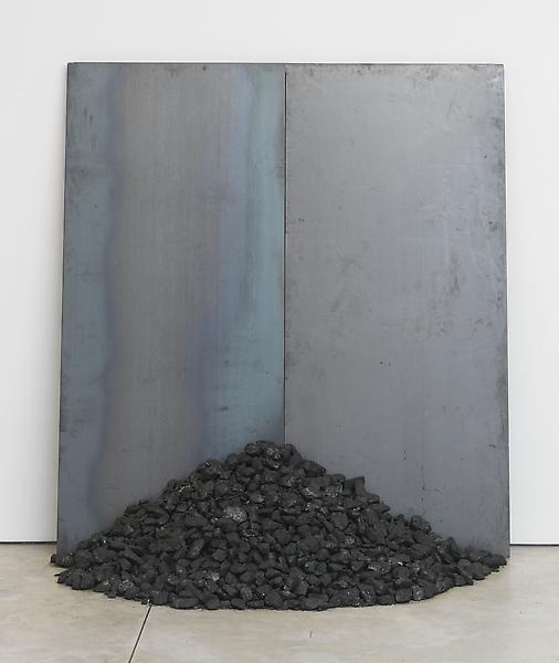 Jannis Kounellis UNTITLED 2013 Steel and coal 78 3/4 x 70 7/8 x 42 inches 200 x 180 x 106.7 centimeters