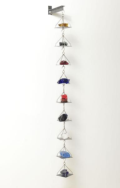 Jannis Kounellis UNTITLED 2013 Steel and glass 72 3/4 x 15 x 5 1/2 inches 184.8 x 38.1 x 14 centimeters