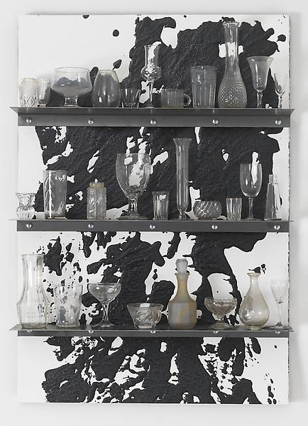 Jannis Kounellis UNTITLED 2013 Steel, tar and glass 39 1/4 x 27 1/2 x 6 1/4 inches 99.7 x 69.9 x 15.9 centimeters