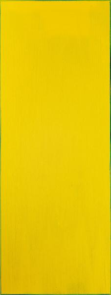Pat Steir YELLOW 2013 Oil on canvas 132 x 50 inches 335.3 x 127 centimeters