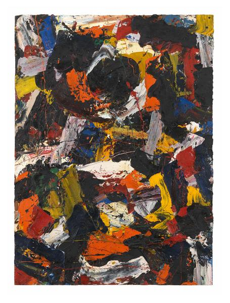 Al Held (1928 - 2005) UNTITLED Circa 1958 Oil on canvas 60 1/4 x 44 3/8 inches 153 x 112.7 centimeters CR# He.32353