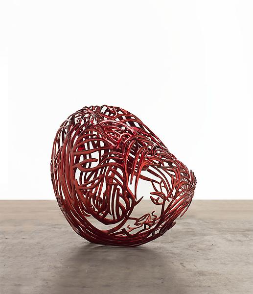 Ghada Amer 	THE HEART 2012 	Painted stainless steel 	33 3/4 x 42 1/4 x 33 inches 	85.7 x 107.3 x 83.8 centimeters