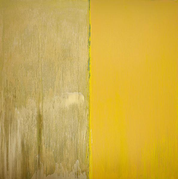Pat Steir NAPLES YELLOW AND MICA 2013 Oil on canvas 132 x 132 inches 335.3 x 335.3 centimeters