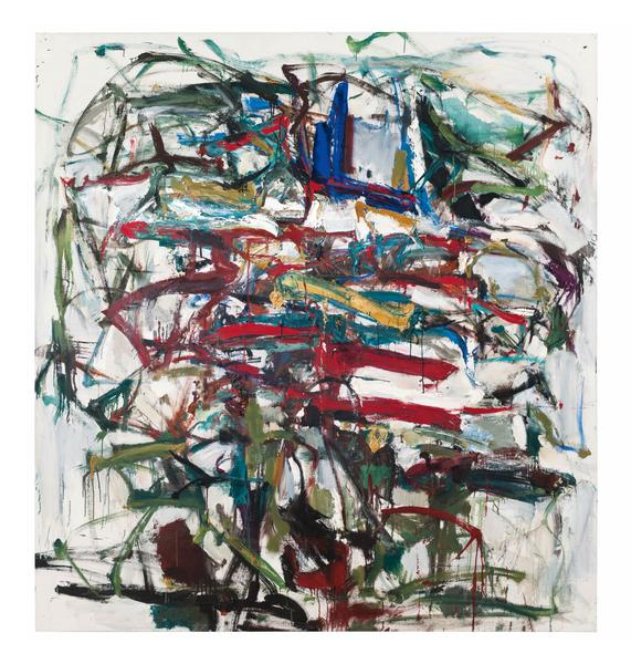 Joan Mitchell 	UNTITLED  Circa 1958 	Oil on canvas 	75 x 71 inches 	190.5 x 180.3 centimeters 	©Estate of Joan Mitchell