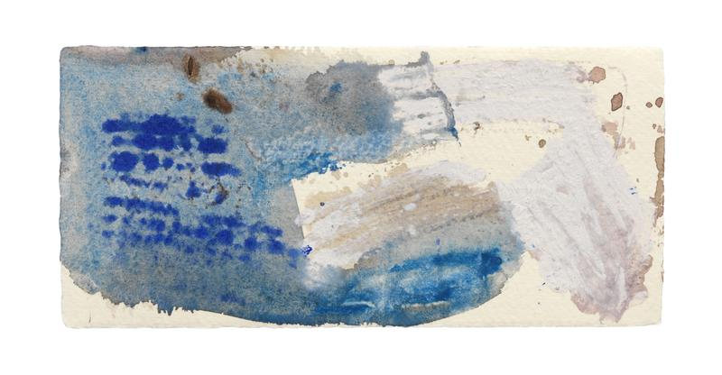 Louise Fishman 	UNTITLED  2013 	Watercolor on paper 	3 7/8 x 8 1/4 inches 	9.8 x 21 centimeters