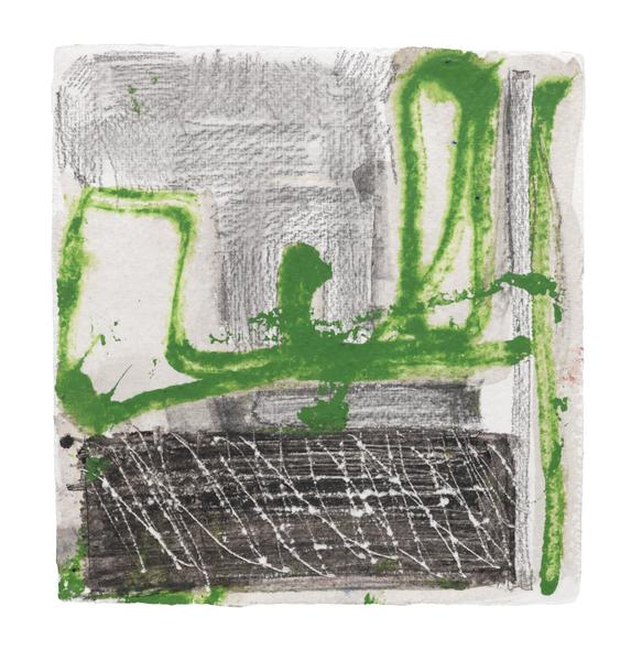 Louise Fishman 	UNTITLED  2013 	Watercolor and pencil on paper 	7 1/8 x 6 3/4 inches 	18.1 x 17.1 centimeters