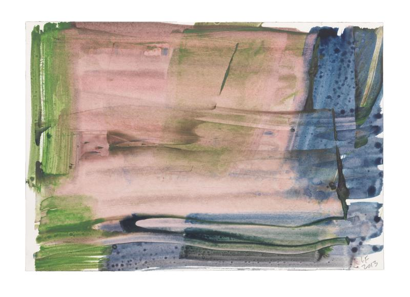 Louise Fishman 	UNTITLED  2013 	Watercolor on paper 	7 1/8 x 10 1/4 inches 	18.1 x 26 centimeters