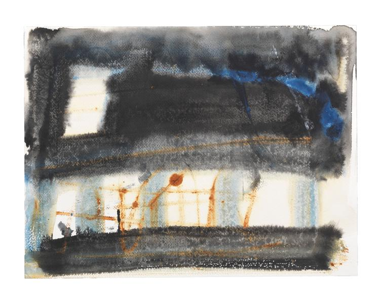 Louise Fishman 	UNTITLED  2013 	Watercolor on paper 	12 1/4 x 16 1/4 inches 	31.1 x 41.3 centimeters