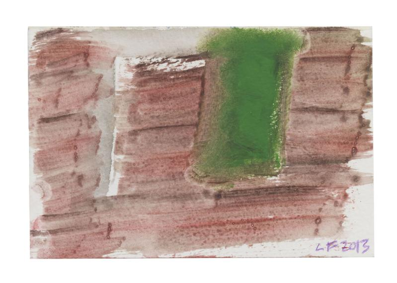 Louise Fishman 	UNTITLED  2013 	Watercolor on paper 	4 x 6 inches 	10.2 x 15.2 centimeters