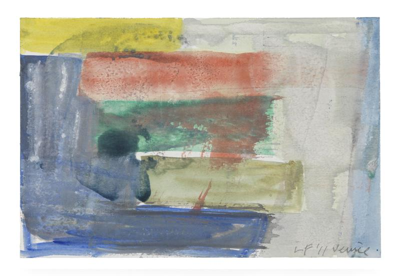 Louise Fishman 	UNTITLED  2011 	Watercolor on paper 	6 x 9 inches 	15.2 x 22.9 centimeters