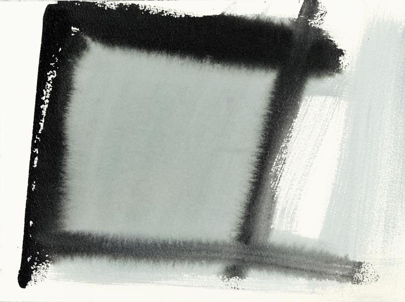 Louise Fishman 	UNTITLED  2016 	Sumi ink and watercolor on paper 	9 x 12 1/4 inches 	22.9 x 31.1 centimeters