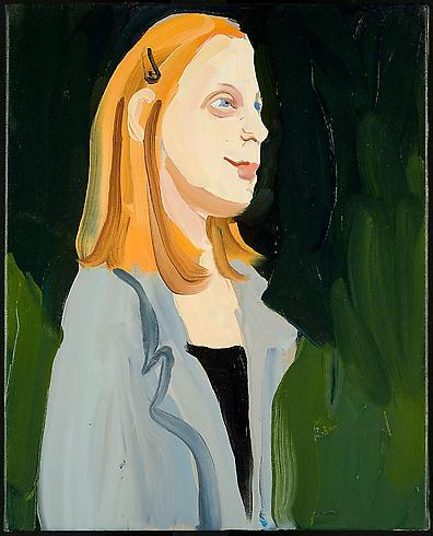 Chantal Joffe 	ANNA 2009 	Oil on linen 	16 1/4 x 13 inches 	41.3 x 33 centimeters