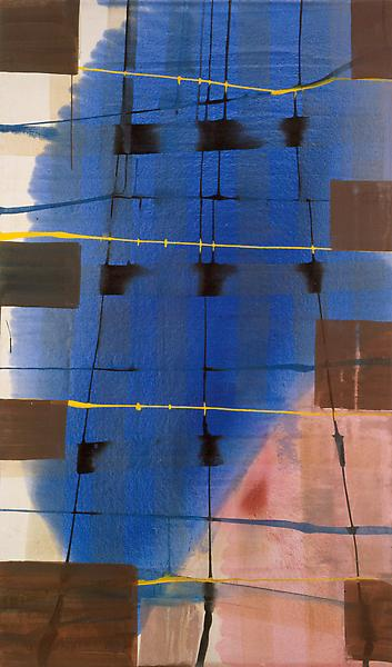 Juan Uslé LAST LETTER 1992 Oil on canvas 78 x 46 1/2 inches 198.1 x 118.1 centimeters CR# US.9160
