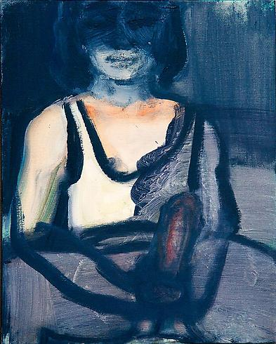 Marlene Dumas 	LIGHTSOURCE 1999-2000 	Oil on canvas 	19 11/16 x 15 15/16 inches 	50 x 40.5 centimeters
