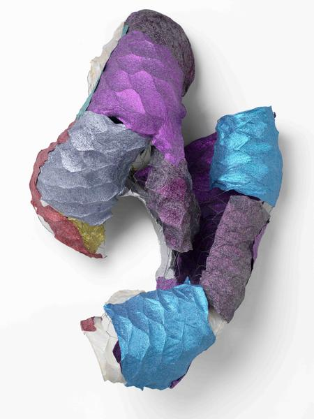 Lynda Benglis BUTTERFLY JUMPER 2016 Handmade paper over chicken wire, cast glitter on handmade paper 40 x 30 x 16 inches 101.6 x 76.2 x 40.6 centimeters