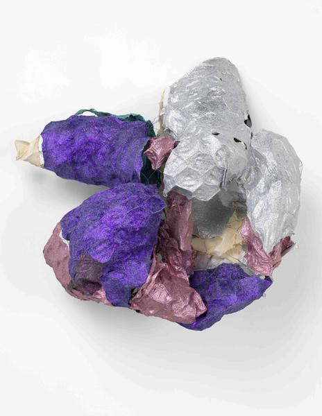 Lynda Benglis OLD SOUL TWO 2016 Handmade paper over chicken wire, cast glitter on handmade paper 32 x 34 x 17 inches 81.3 x 86.4 x 43.2 centimeters