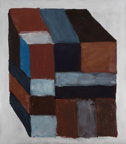 Sean Scully 	BLOCK BROWN  2016 	Oil on aluminum 	85 x 75 inches 	215.9 x 190.5 centimeters  p.p1 {margin: 0.0px 0.0px 0.0px 0.0px; font: 14.0px Garamond}