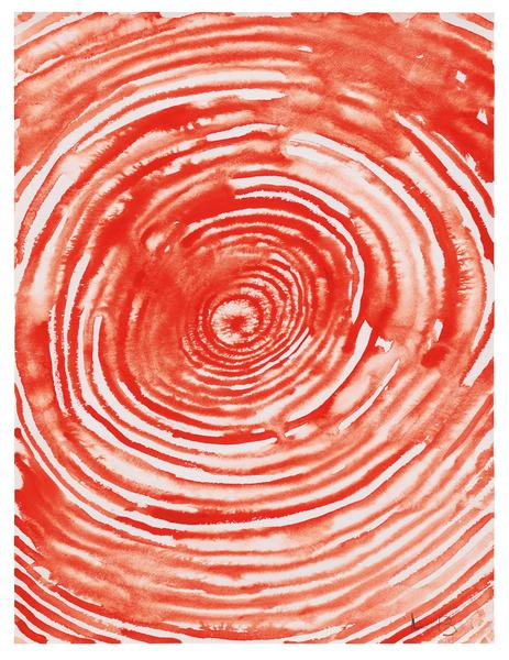 Louise Bourgeois 	SPIRAL  2009 	Gouache on paper 	23 1/2 x 18 inches 	59.7 x 45.7 centimeters