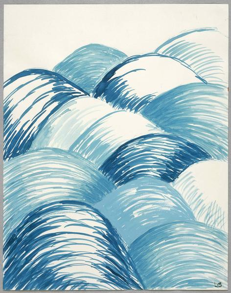 Louise Bourgeois (1911 - 2010) BLUE DAYS 2004 Watercolor and gouache on paper 11 1/2 x 9 inches 29.2 x 22.9 centimeters