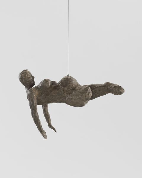 Louise Bourgeois (1911 - 2010) FEMME 2005 Bronze, silver nitrate patina 13 x 16 1/2 x 7 3/4 inches 33 x 41.9 x 19.7 centimeters