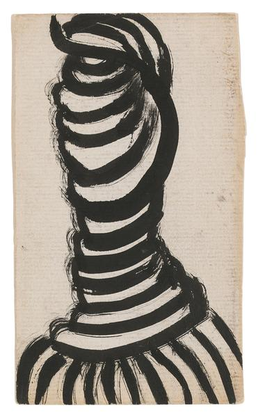 Louise Bourgeois 	THE TWIST  1989 	Ink on paper 	5 3/4 x 3 3/8 inches 	14.6 x 8.6 centimeter