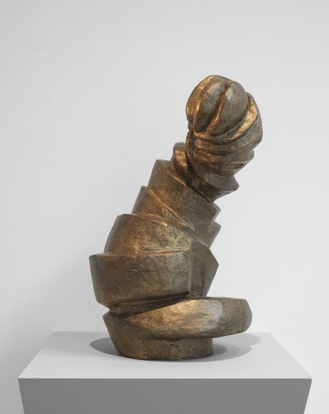 Louise Bourgeois 	LABYRINTHINE TOWER  1962 	Bronze 	18 x 12 x 10 inches 	45.7 x 30.5 x 25.4 centimeters