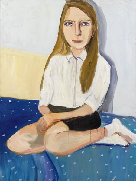 Chantal Joffe MARINA 2014 Oil on canvas 96 x 72 1/8 inches 243.8 x 183.2 centimeters