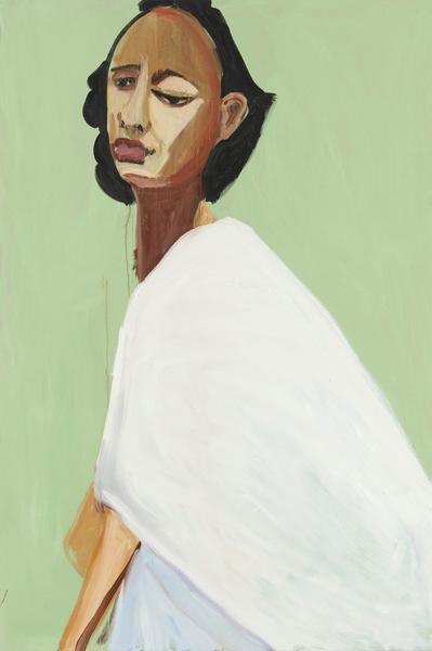Chantal Joffe NATASHA 2016 Oil on canvas 72 x 48 x 1 1/4 inches 182.9 x 121.9 x 3.2 centimeters