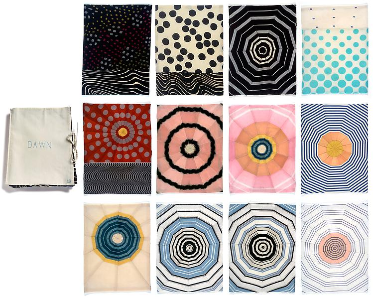 Louise Bourgeois DAWN 2006 Fabric book, 12 pages 12 1/4 x 9 3/4 inches each 31.1 x 24.8 centimeters each