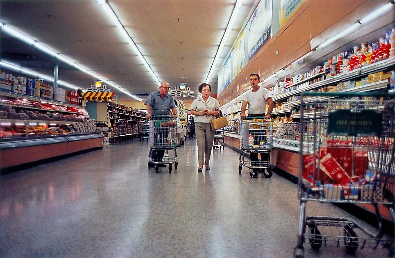 William Eggleston 	Untitled, (Grocery Store), 1965-68 	Dye-transfer print 	16 x 20 inches 	40.6 x 50.8 centimeters
