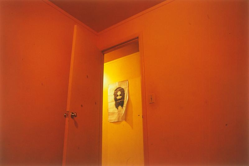 William Eggleston 	Untitled (Poster in Hallway), 1970 	Dye-transfer print 	16 x 20 inches 	40.6 x 50.8 centimeters