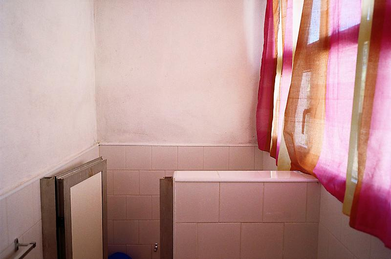 William Eggleston 	Untitled (Bathroom with Pink Curtain, Cuba), 2007 	Pigment print 	22 x 28 inches 	55.9 x 71.1 centimeters