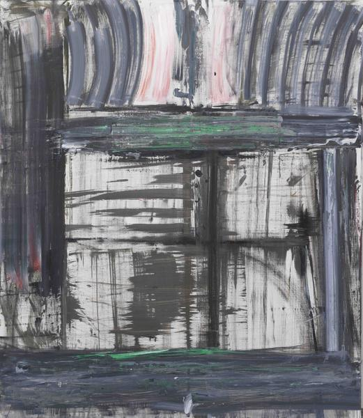 Louise Fishman 	IMAGE AND WITNESS  2015 	Oil on linen 	66 x 57 inches 	167.6 x 144.8 centimeters